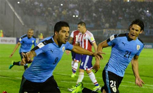 Suarez và Cavani lập công, Uruguay soán ngôi đầu của Argentina