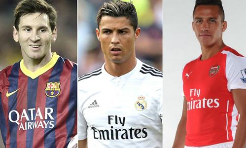 Alexis Sanchez tự nhận trình độ ngang ngửa Messi và Ronaldo