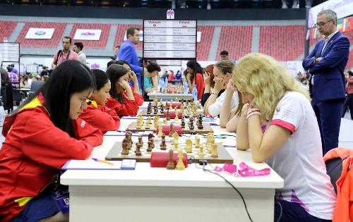 Tuyển cờ vua nữ Việt Nam đứt mạch bất bại tại Olympiad