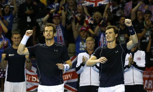 Anh em Murray rút ngắn tỷ số cho tuyển Vương quốc Anh