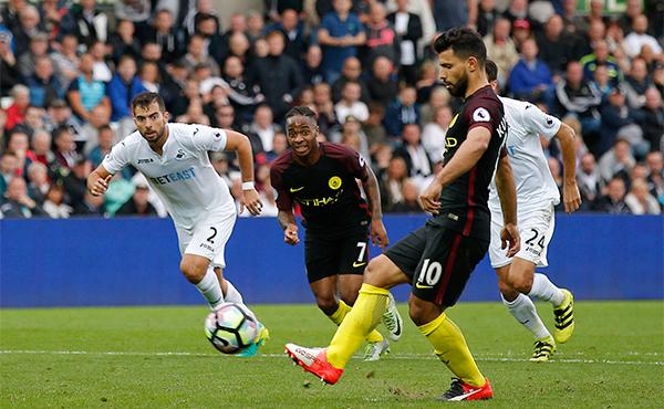 Aguero góp cú đúp, Man City thắng trận thứ sáu liên tiếp