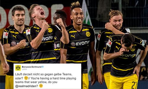 Dortmund chọc tức Real Madrid trước trận ở Champions League
