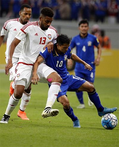Thái Lan thua trận thứ ba liên tiếp tại vòng loại World Cup