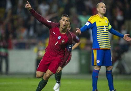 Ronaldo ghi bốn bàn, Bồ Đào Nha đại thắng tại vòng loại World Cup