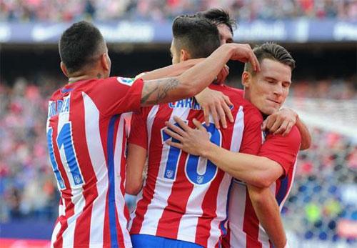 Atletico giữ vững vị trí dẫn đầu Liga bằng trận thắng 7-1