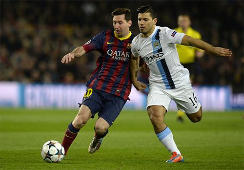 """Aguero: """"Cầu thủ Man City ai cũng mong Messi có một ngày tồi tệ"""""""