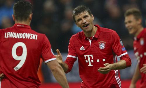 Bayern thắng trận sân nhà thứ 14 liên tiếp tại Champions League