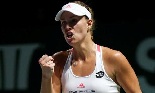 Kerber thắng trận đầu tại WTA Finals