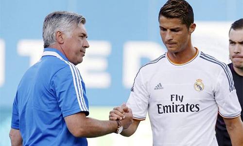 """Ancelotti: """"Ở Real, tôi phải xem Ronaldo muốn đá ở vị trí nào"""""""