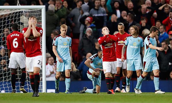 Man Utd không thắng trận thứ tư liên tiếp tại Ngoại hạng Anh
