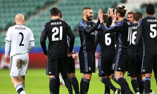 Real có thể hưởng lợi lớn nhờ xếp thứ hai bảng F Champions League