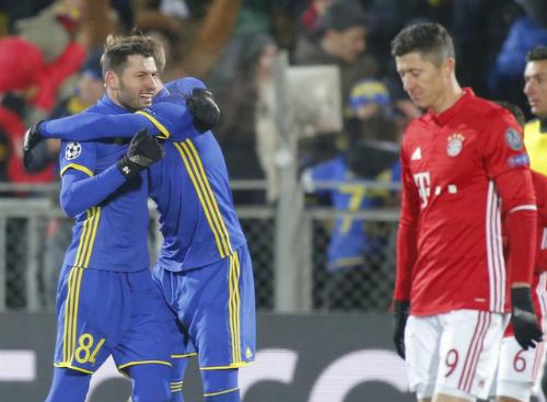 Bayern thua ngược trên đất Nga tại Champions League
