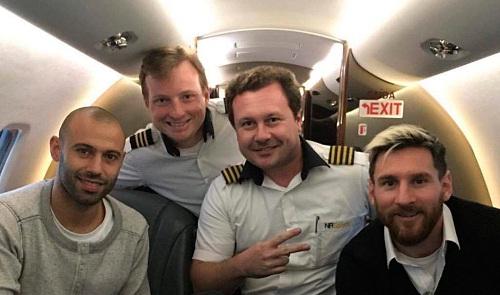 Messi sử dụng chiếc máy bay bị rơi vài tuần trước tai nạn