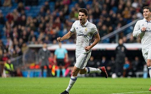 Con trai Zidane ghi bàn ngay trong trận ra mắt tại Real