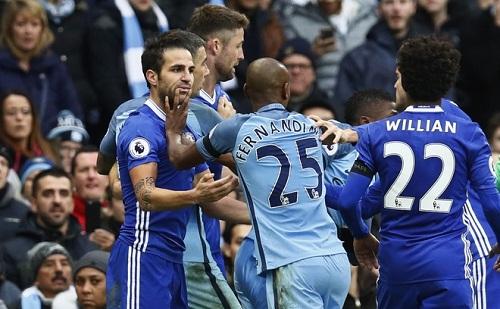 Chelsea có thể bị trừ điểm vì vụ ẩu đả với Man City