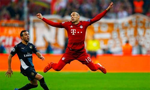 """Robben: """"Mục tiêu của Bayern là chung kết, Arsenal chỉ cần vào tứ kết"""""""