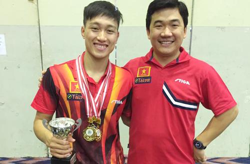 Bóng bàn Việt Nam giải cơn khát HC vàng đơn nam tại Đông Nam Á
