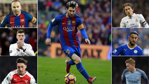 Messi giành giải Vua kiến tạo năm 2016