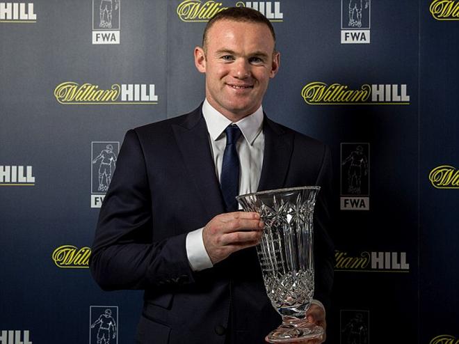 Rooney nhận giải thưởng của Hiệp hội phóng viên bóng đá Anh - ảnh thể thao