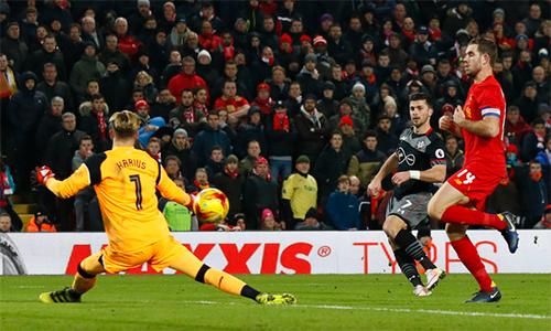 Liverpool thất thủ, bị loại ở bán kết Cúp Liên đoàn Anh