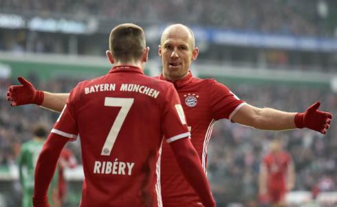 """""""Đôi cánh Robbery"""" trở lại, Bayern ngự trị đỉnh Bundesliga"""