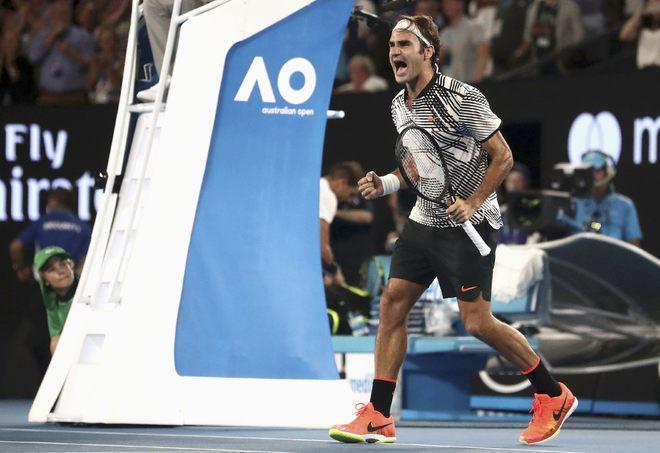 Federer rơi nước mắt sau khi thắng Nadal - ảnh thể thao