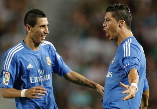 """Di Maria: """"Không hiểu tại sao CĐV Real chỉ trích Ronaldo"""""""