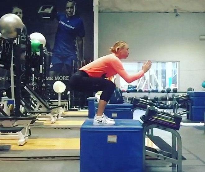 Sharapova miệt mài luyện tập chuẩn bị cho ngày tái xuất
