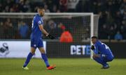 Leicester bị đẩy xuống nhóm cầm đèn đỏ ở Ngoại hạng Anh