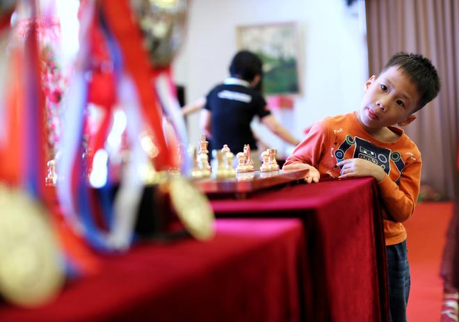 Những hình ảnh ngộ nghĩnh tại giải cờ vua quốc tế HDBank
