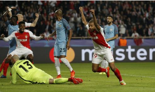 Man City thua đậm Monaco, bị loại khỏi Champions League
