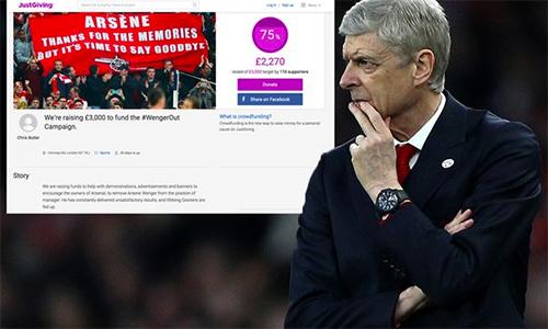 Fan Arsenal góp tiền thuê máy bay, hối thúc CLB sa thải Wenger