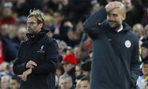"""Klopp e ngại sức mạnh của Man City ở trận """"Siêu Chủ nhật"""""""