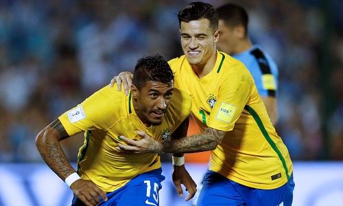 Ngôi sao chơi bóng ở Trung Quốc tỏa sáng, Brazil thắng đậm Uruguay