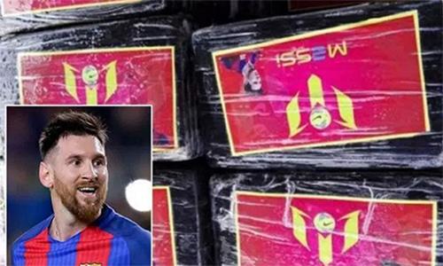 Cảnh sát Peru phát hiện gần 1,5 tấn ma túy có in hình Messi