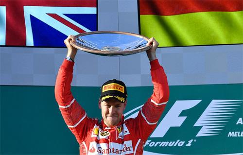 Lật ngược thế cờ, Vettel về nhất chặng mở màn F1 2017