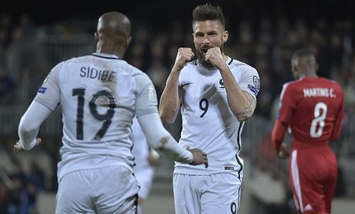 Giroud lập cú đúp, Pháp nối dài mạch thắng ở vòng loại World Cup
