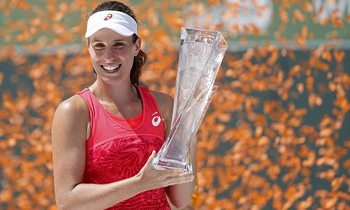 Johanna Konta trở thành tay vợt Anh đầu tiên vô địch Miami