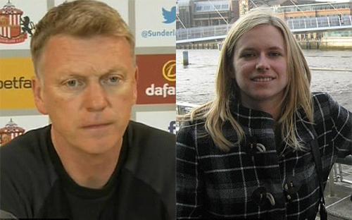 David Moyes gặp vạ vì doạ tát nữ phóng viên