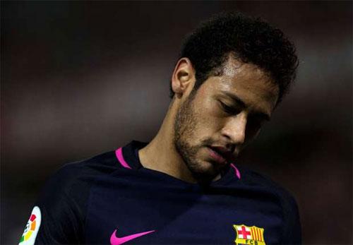 Neymar nhận án treo giò ba trận, vắng mặt ở El Clasico