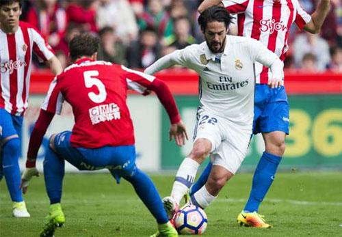 Gijon 2-3 Real: Mưa bàn thắng đẹp