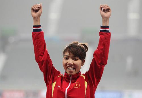 Nữ VĐV nhảy xa Việt Nam giành HC Vàng châu Á