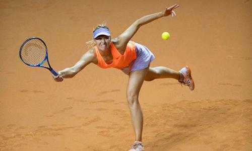 Sharapova bị loại ở bán kết Stuttgart Mở rộng
