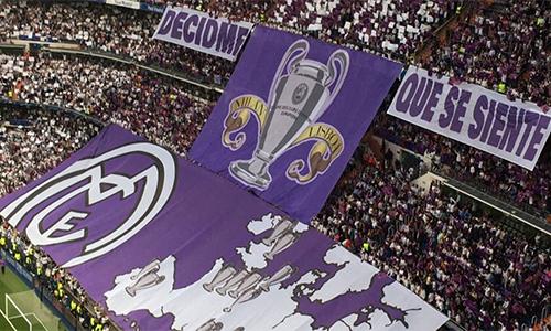 """CĐV Real """"xát muối"""" vào vết thương lòng của Atletico"""