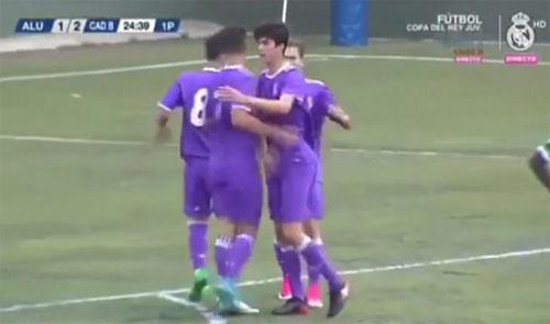 Con trai Zidane ghi bàn giúp Real vô địch U15 Tây Ban Nha