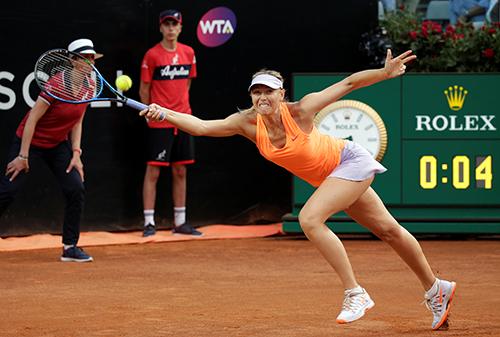 Sharapova bỏ cuộc giữa chừng ở vòng hai Rome Masters