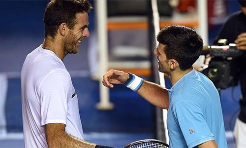 Trận Djokovic - Del Potro bị hoãn vì trời mưa