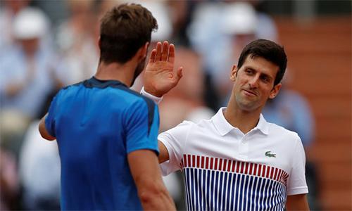 Djokovic thắng trận đầu sau khi cộng tác với HLV Agassi