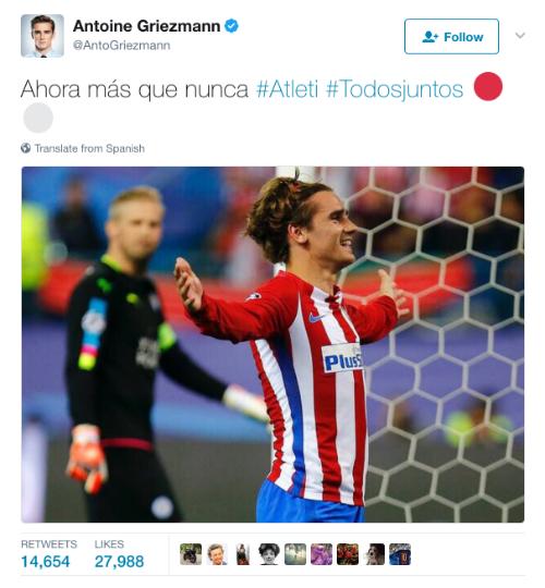 Griezmann phớt lờ Man Utd, đồng ý ở lại Atletico
