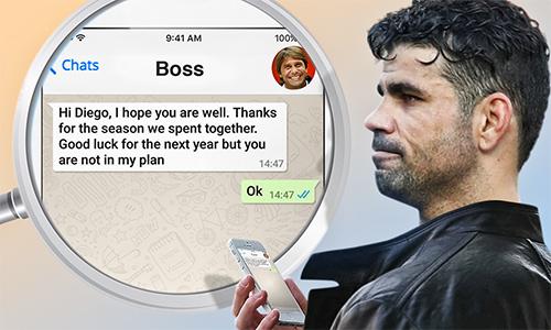 HLV Conte đã nhắn tin gì cho Costa khi muốn anh rời Chelsea